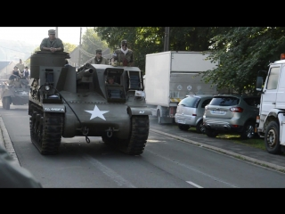 M7b1 priest with ford gaa engine driving