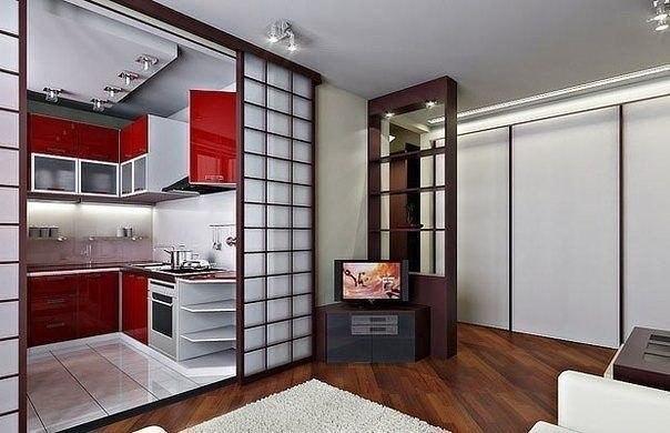 Кухня и гостиная (1 фото) - картинка