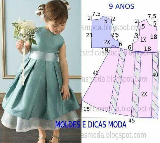 Как сшить девочке платье своими руками