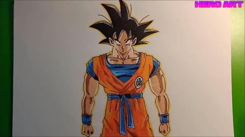 Hướng dẫn vẽ Goku đẹp và đơn giản cho mọi người