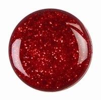 Дизайн красный лак с блестками