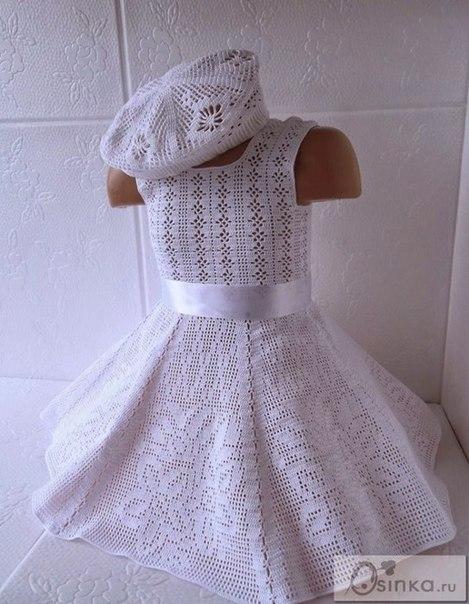 Платье филейным узором (4 фото) - картинка