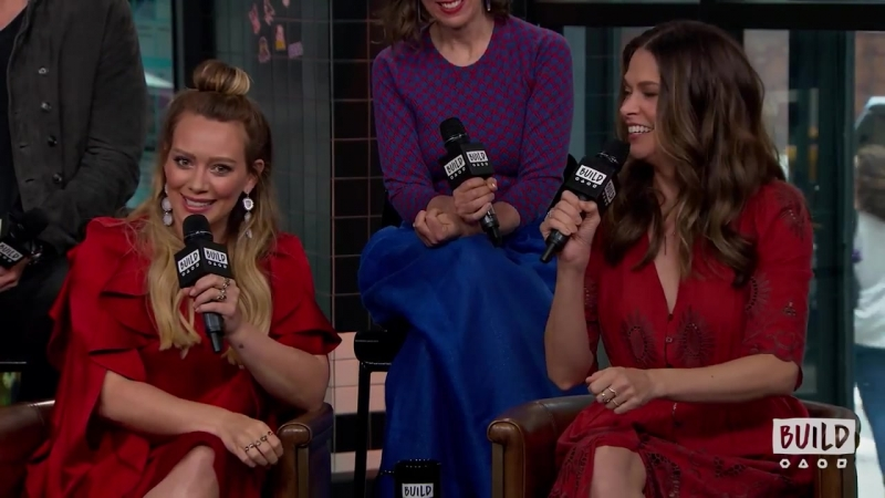 Why Does Sutton Foster Have A Shirt With Hilary Duffs Face On It | AOL BUILD | 5/06/2018