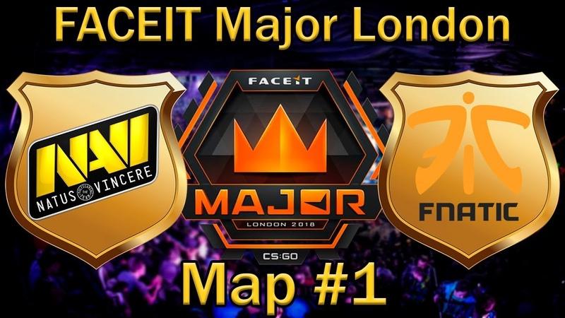 НАВИ в шаге от ПЛЕЙ-ОФФ | NaVi vs Fnatic de_mirage bo1 [RU] | FaceIT Major London 2018