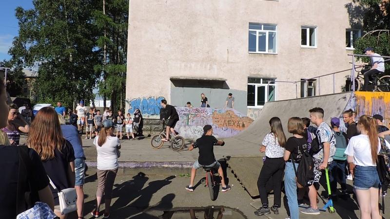 День Молодёжи г Братск Энергетик ( 23 06 2018 )Вело воркаут