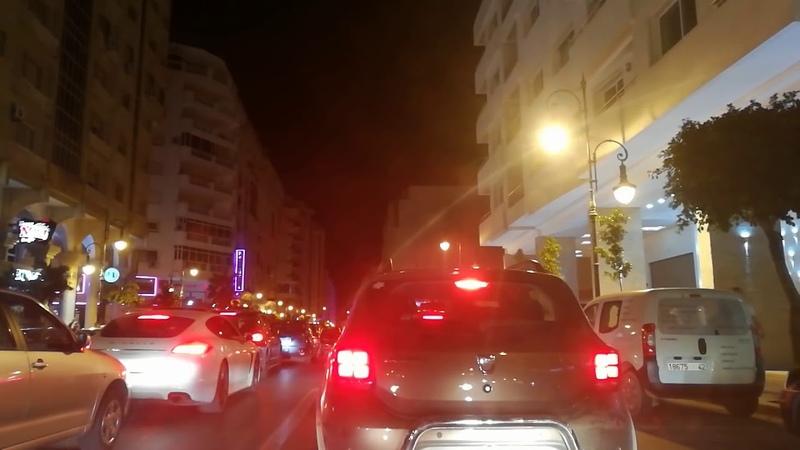 Tanger la nuit Maroc 🚘 جولة في مدينة طنجة بالليل