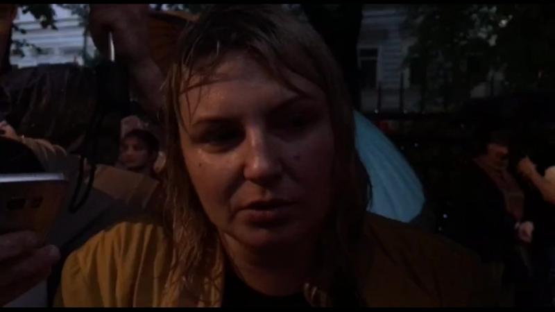 Мать Ани Павликовой на «Марше матерей»