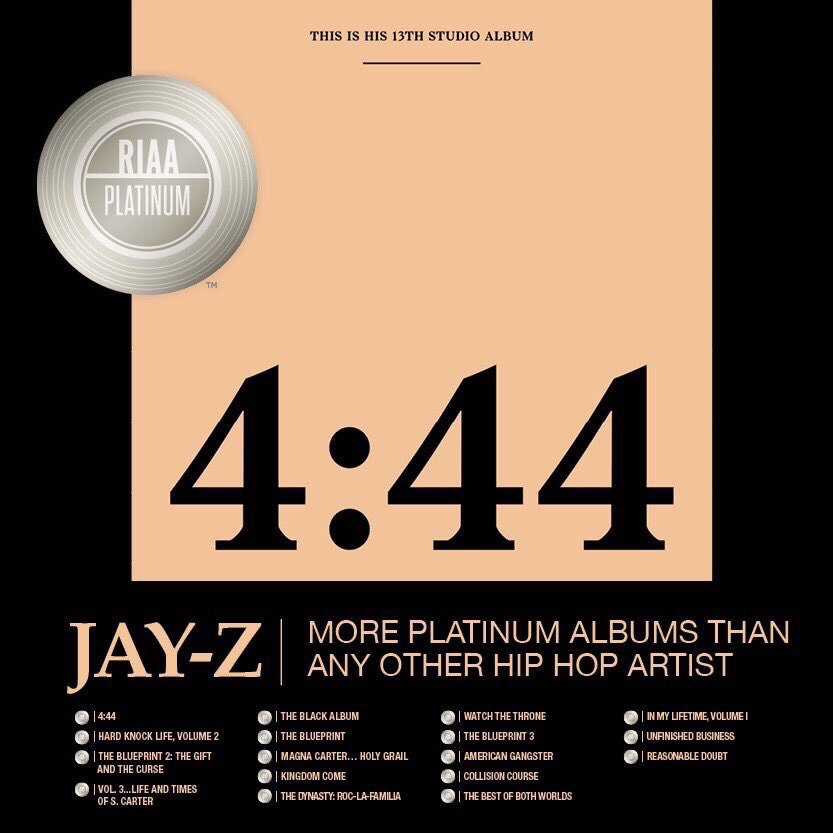 Riaa jay z 444 certified platinum chart central church of pop qliiujnqcqcg malvernweather Image collections