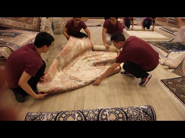 How to pack up hand knotted silk carpets?