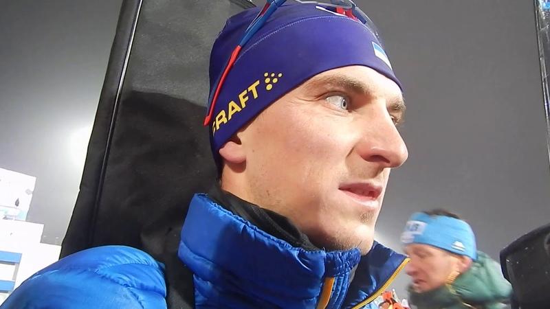 Дмитрий Пидручный, биатлонист сборной Украины. Интервью после финиша в спринте Нове Место-2018