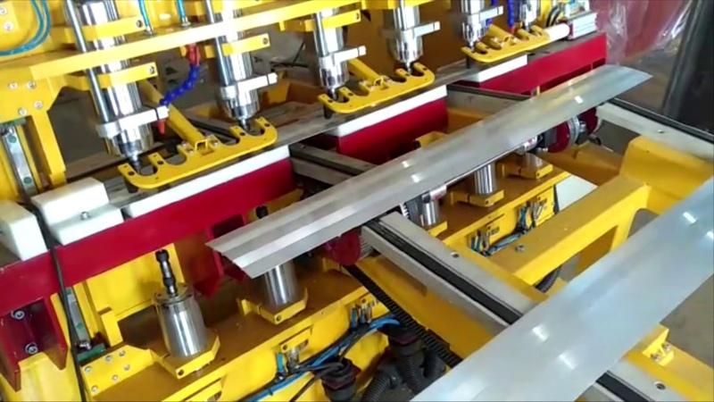 Автоматическая сверловка алюминиевых профилей