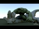 Hulk vs T-rex - Creature Seq WIP HD