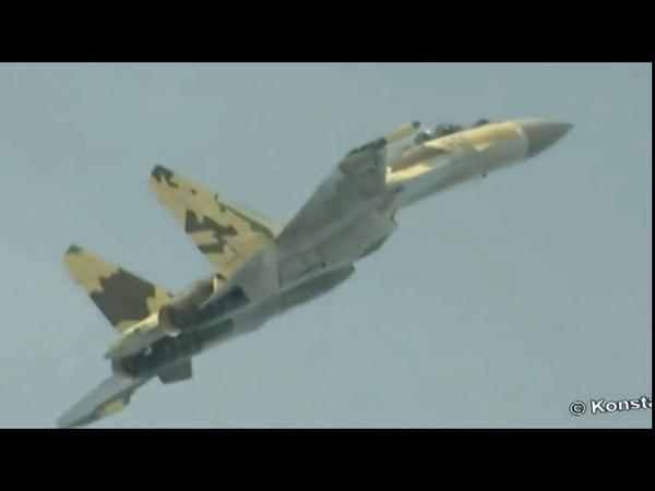 СУ-35. Ни один самолет в мире не способен на это. Смотреть в полном экране.