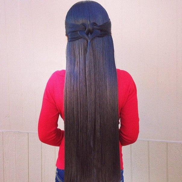 Причёска на длинные прямые волосы своими руками