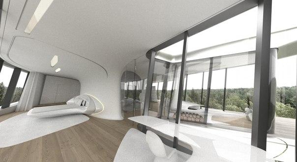Дом под названием «Capital Hill Residence» площадью более 2,5 тысяч квадратных метров выполнен в экостиле — смеси современных технологий с природными формами.