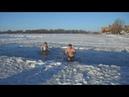 Купание на Крещение Family Run Club Бердичев! Winter swimming in Ukraine! Моржевание!