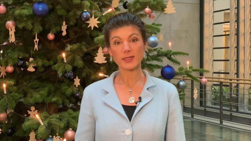 Ein frohes neues Jahr wünscht Sahra Wagenknecht