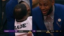 LeBron James have fun with Lonzo Ball & cries with laughter on the bench | Lakers vs Pistons