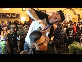 JohnTee The Barber- Xotics Hair Battle Tour 2014 Los Angeles