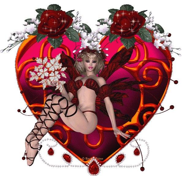 Картинки сердечки поцелуи анимации