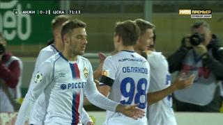 Анжи – ЦСКА. 0:2. Федор Чалов, Российская Премьер-Лига, 11 тур 19.10.2018