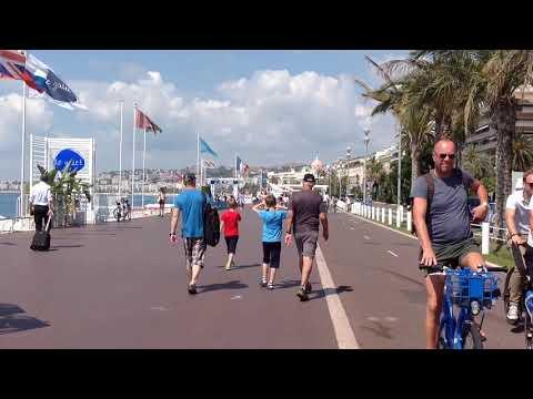 Ницца прогулка по Английской набережной Nice Promenade des Anglais