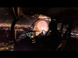fireworks and a laser show from the air