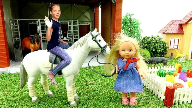 Видео для девочек - Штеффи у бабушки на даче - Игры в куклы