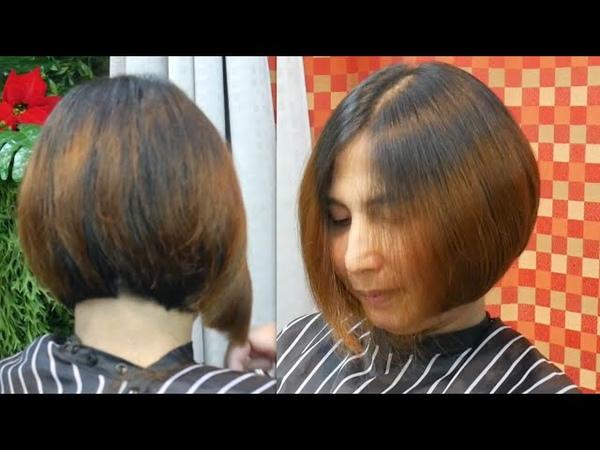 Short bob haircut tutorial original Sound 👍ตัดผมบ๊อบ ทุยทุย และเท นิด นิด