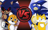 SONIC.EXE and TAILS DOLL vs SANIC and TAELS! Cartoon Fight Club Episode 41