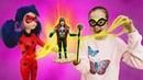 Леди Баг в замедленном городе - Мультики с куклами. Охотники за игрушками