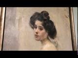Семен Никифоров. Полуобнаженная натурщица. Мастерская Валентина Серова. 1900