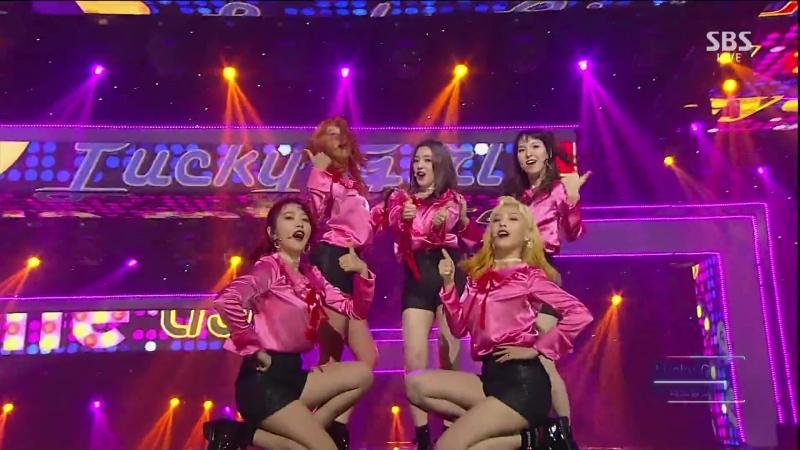 160911 Red Velvet - Lucky Girl @ SBS Inkigayo