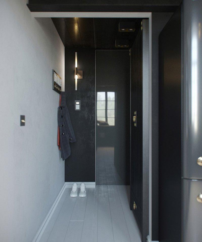 Дизайн студии площадью 24 кв.