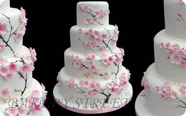 Свадебные торты фото с сакурой