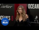 Gigi Hadid flaunts her legs at the Oceans Eight premiere - Daily Mail