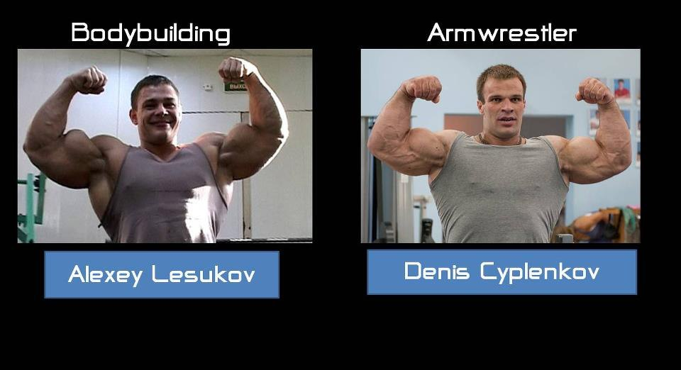 Bodybuilding VS. Armwrestling │Alexey Lesukov VS. Denis Cyplenkov