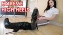Christina's Gianmarco Lorenzi platform high heels boots Patent leather EU 37 US 7 5