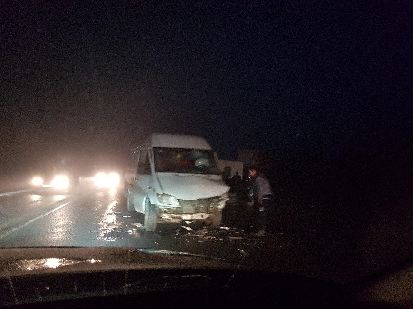 НаКиевском шоссе из-за тумана игололеда создалась 10-километровая пробка