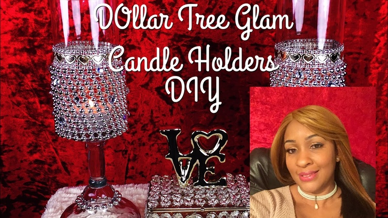 How To DIY Glam Dollar Tree Candle Holders