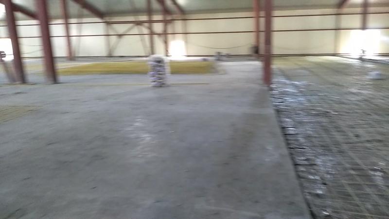Бетонирование площадки хранения склада готовой продукции (г. Курск)