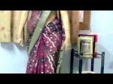 How to look Slim in Sari - Saree draping style.. Wear Sari to look slim