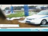 Водитель большегруза высыпал песок на патрульную машину ГИБДД