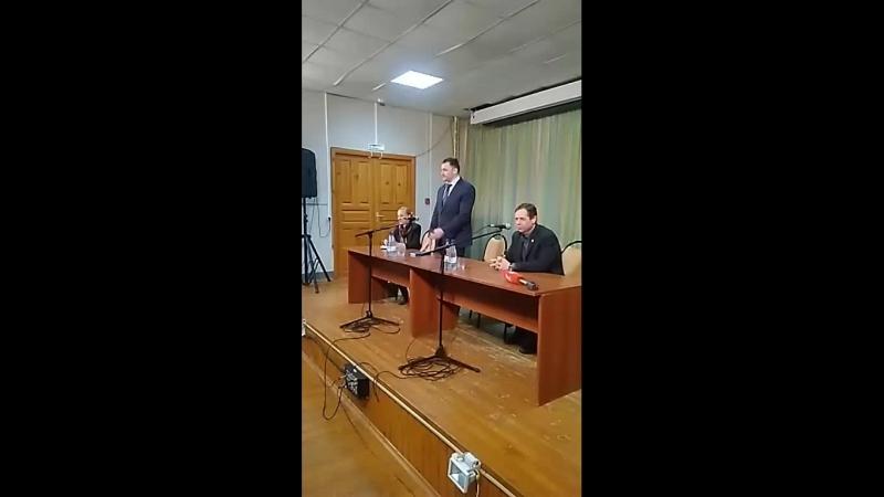 Встреча с жителями территории, примыкающей к заводу напольных покрытий в г.Камешково Владимирской обл