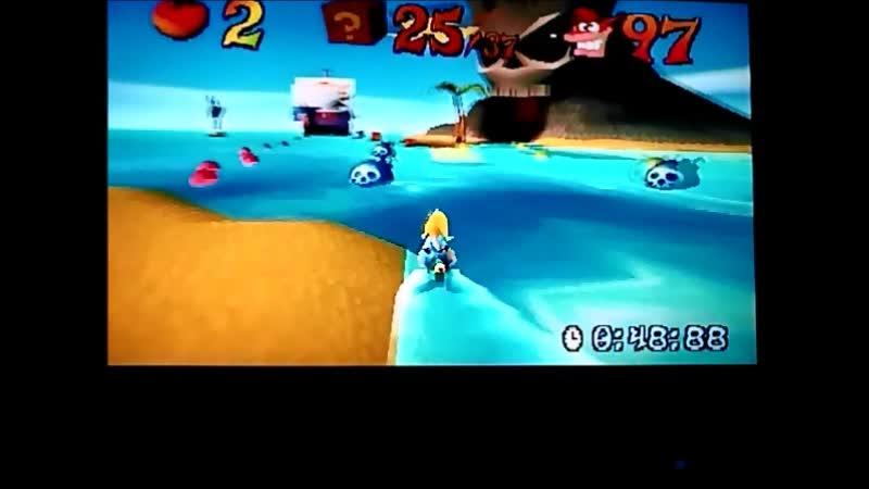 Crash Bandicoot 3 Warped PAL version Time Trial Makin Waves 50 52 Full version