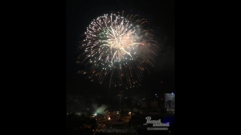 Салют на Театралке на день город 15 9 2018 Ростов на Дону Главный