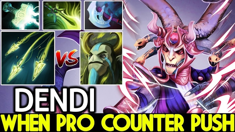 Dendi [Medusa] When Pro Player Counter Push Strat 7.20 Dota 2
