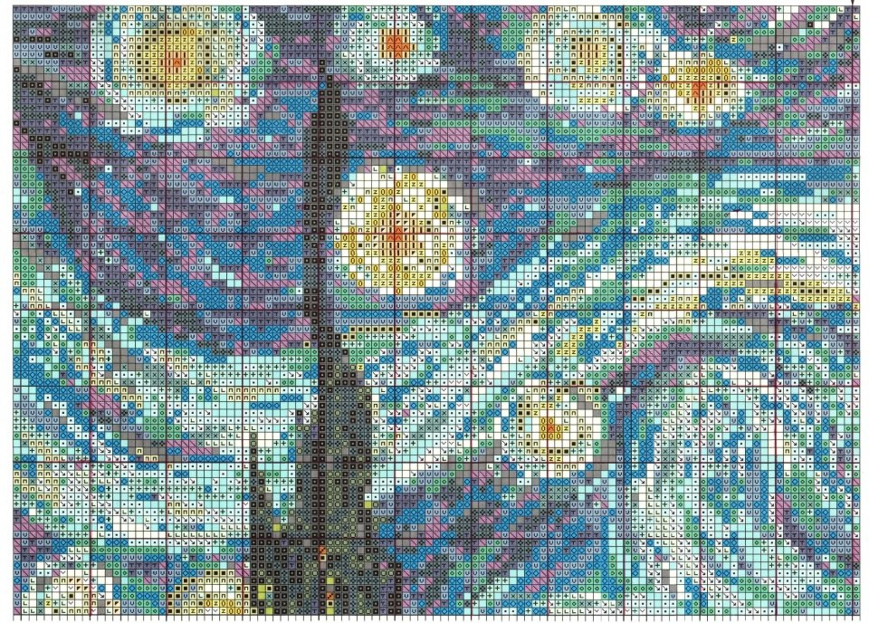 Картина ван гог вышивка схема