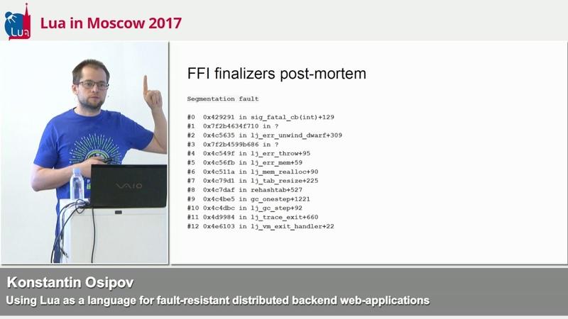 Using Lua for fault resistant distributed backend web apps Kostja Osipov Tarantool LIM'17 talk 3