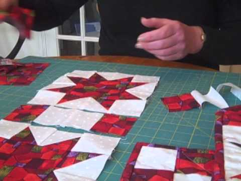 Christmas Quilting Pattern - Star Table Runner Video